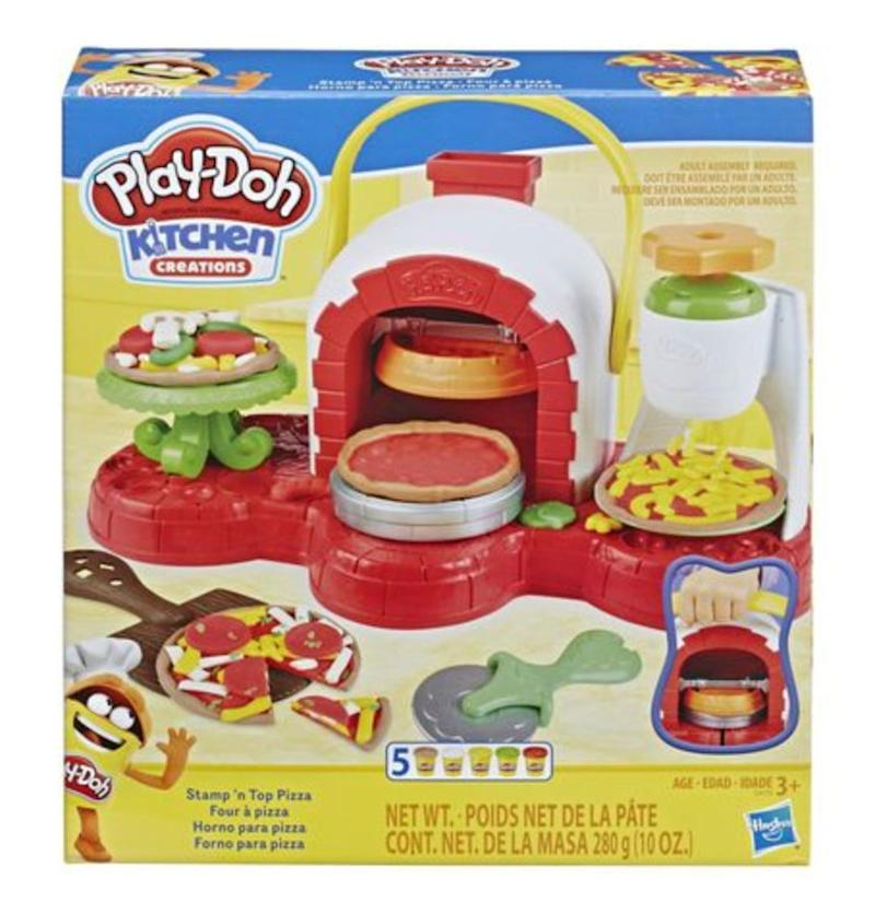 "Live that Play-Doh pizza life!&nbsp;&nbsp;<strong>Ages:</strong> 3+&nbsp;<strong>Get it at:</strong> <a href=""https://www.walmart.ca/en/ip/play-doh-stamp-n-top-pizza-oven-toy/6000199771477"" target=""_blank"" rel=""noopener noreferrer"">Walmart</a>, $27.96"