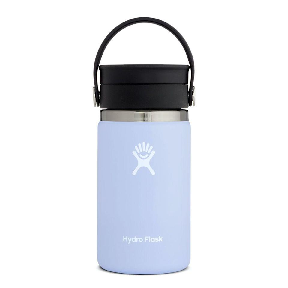 """<h2>Hydro Flask Coffee With Flex Sip Lid</h2><br><strong>Best For: Taking Anywhere</strong><br>You can essentially take a Hydro Flask anywhere — to class, a meeting, the gym, yoga sessions, and more. This specific coffee mug can latch onto your bag with its Flex Strap and accompany you on all kinds of journeys. <br><br><em>Shop</em> <strong><em><a href=""""http://hydroflask.com"""" rel=""""nofollow noopener"""" target=""""_blank"""" data-ylk=""""slk:Hydro Flask"""" class=""""link rapid-noclick-resp"""">Hydro Flask</a></em></strong><br><br><strong>Hydro Flask</strong> 12 oz Coffee with Flex Sip™ Lid, $, available at <a href=""""https://go.skimresources.com/?id=30283X879131&url=https%3A%2F%2Fwww.hydroflask.com%2F12-oz-coffee-with-flex-sip-lid"""" rel=""""nofollow noopener"""" target=""""_blank"""" data-ylk=""""slk:Hydro Flask"""" class=""""link rapid-noclick-resp"""">Hydro Flask</a>"""