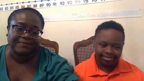PHOTO: Single mom Opal Foster of Silver Spring, Md., lost her job in March during the pandemic but now spends all day at home helping her son Jeremiah start eighth grade. (ABC News)