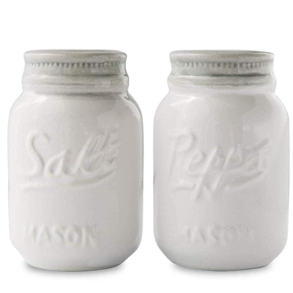 <p>C'mon, you need these <span>Vintage Mason Jar Salt &amp; Pepper Shakers</span> ($14).</p>