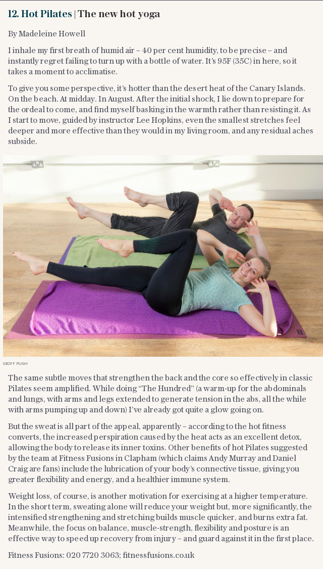 Hot Pilates | The new hot yoga