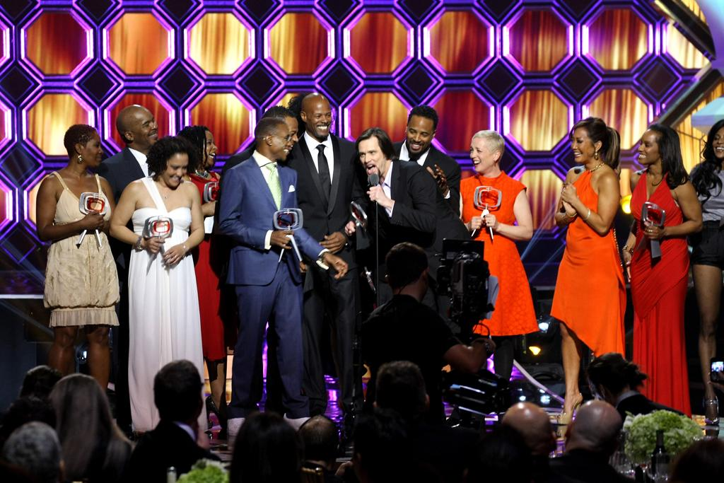 """The cast of """"<a href=""""http://tv.yahoo.com/in-living-color/show/103"""">In Living Color</a>"""" at the 10th Annual TV Land Awards  at the Lexington Avenue Armory on April 14, 2012 in New York City."""
