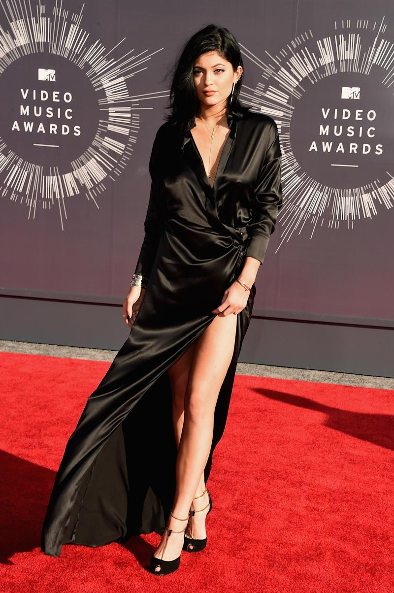Kylie Jenner in Alexandre Vauthier with Gucci heels at the MTV Video Music Awards in Inglewood, California, August 2014.