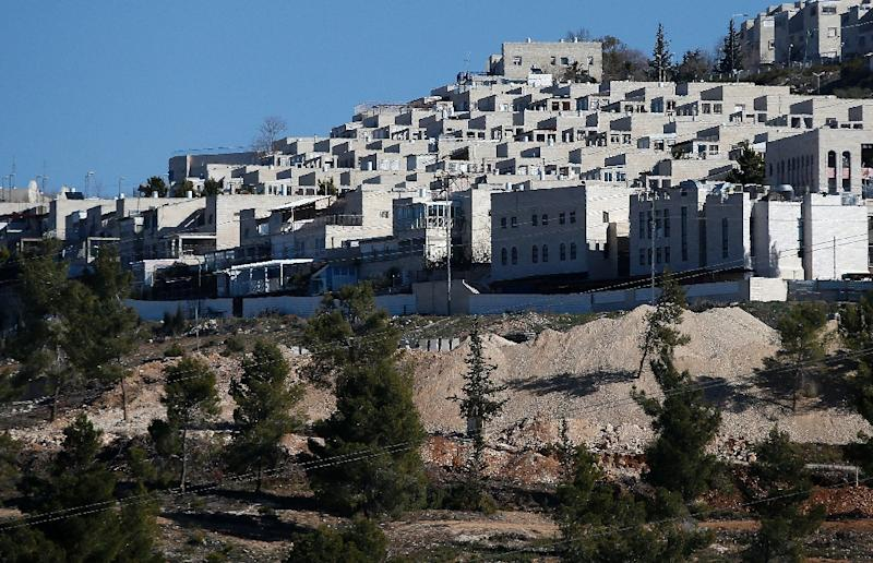 A general view taken on January 11, 2017 shows housing units in the Jewish Ramat Shlomo  settlement on the mainly Palestinian east Jerusalem