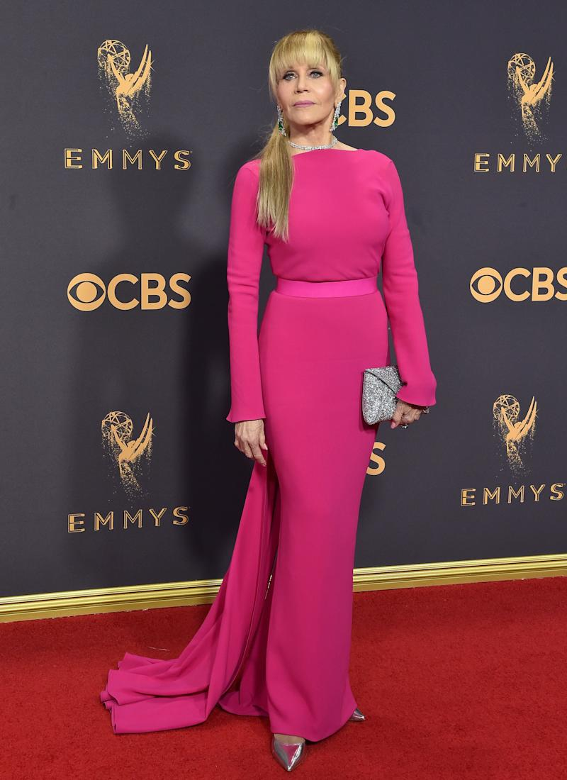 Jane Fondaat the 69th Annual Primetime Emmy Awards in Los Angeles, California on Sept. 17, 2017.