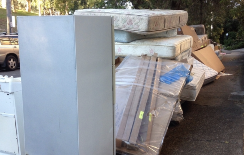 The illegal dump from a Bondi man that resulted in a $2000 fine. Source: Waverley Council