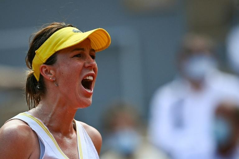 A long time coming: Anastasia Pavlyuchenkova is through a first Grand Slam semi-final in her 52nd major