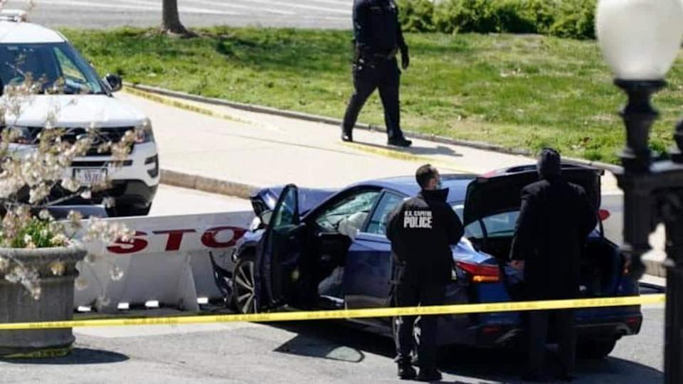 US Capitol attack: Car rams security barricade; 1 officer killed