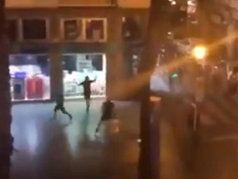 England supporters were involved in overnight clashes with Spanish police (Twitter/casualsportsn)