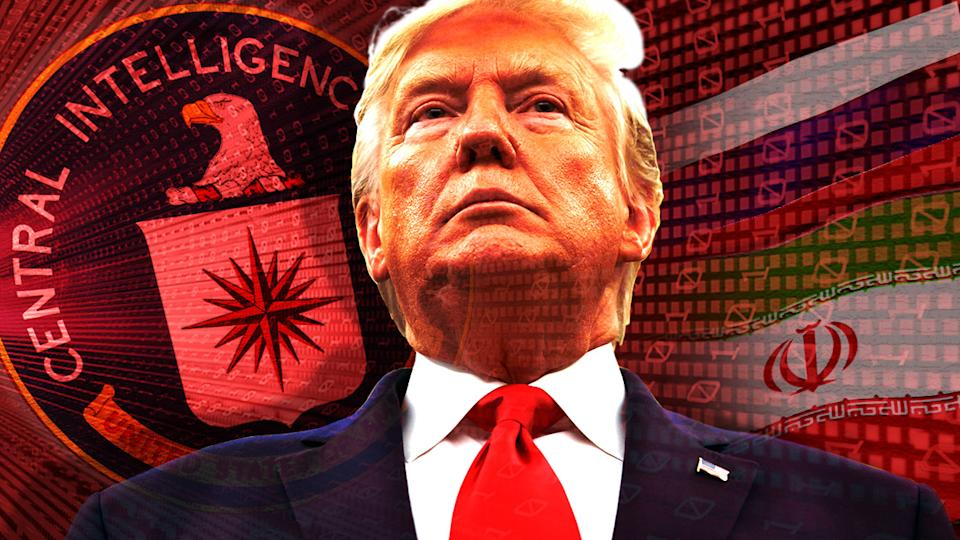 President Trump and the CIA. (Photo illustration: Yahoo News; photos: AP(3), Getty Images)