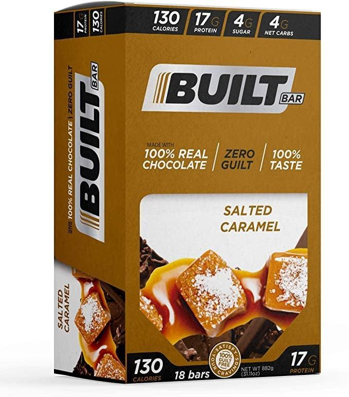 <p>These <span>Built Bar 18 Pack Protein and Energy Bars</span> ($38) are delicious. Warm them up in the microwave for a few seconds, and it tastes like a warm cookie.</p>