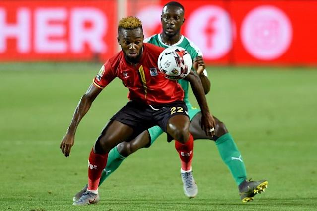 New Pyramids FC signing Lumala Abdu (F) playing for Uganda against Senegal in the Africa Cup of Nations last month (AFP Photo/MOHAMED EL-SHAHED )