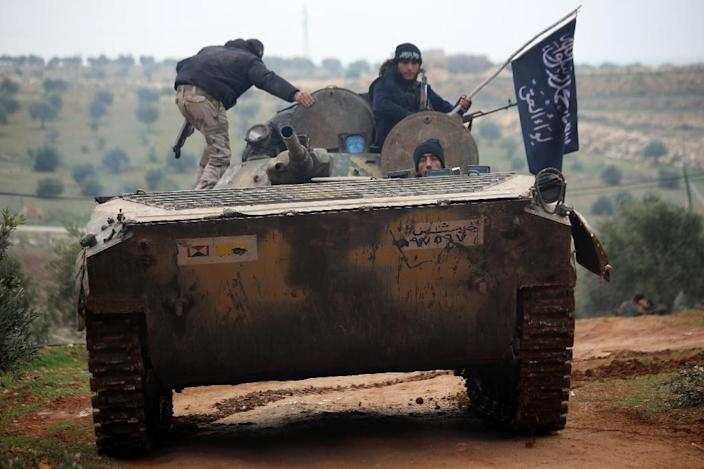 More than 50 Syrian soldiers and Islamist fighters have been killed in fighting over a strategic hilltop (AFP Photo/Fadi al-Halabi)