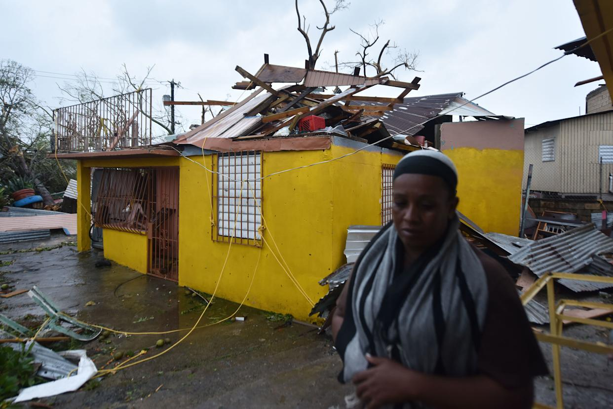 Maria slammed into Puerto Rico on Sept. 20, 2017, cutting power on most of the U.S. territory as residents hunkered down in the face of the island's worst storm in living memory.