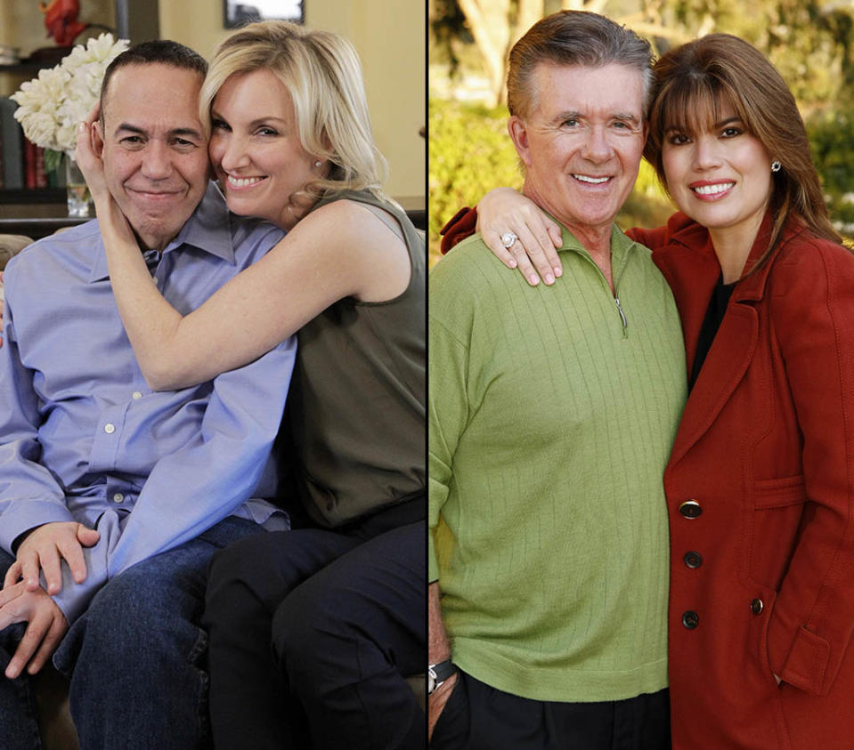 """CELEBRITY WIFE SWAP - """"Gilbert Gottfried / Alan Thicke"""" - The wives of actor Alan Thicke and comedian Gilbert Gottfried trade homes for one week, on """"Celebrity Wife Swap,"""" TUESDAY, MARCH 12 (8:00-9:00 p.m., ET) on the ABC Television Network. (ABC/Lou Rocco) GILBERT GOTTFRIED, DARA KRAVITZ"""