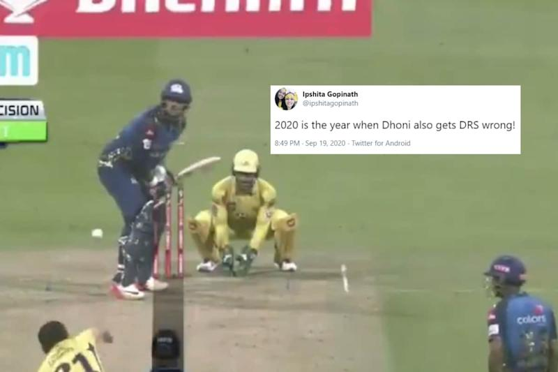 Dhoni Got a DRS Call Wrong During MI Vs CSK Match and IPL Fans are Convinced 2020 is 'Cursed'