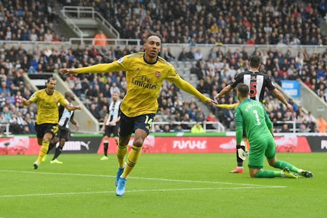 Pierre Emerick-Aubameyang's goal sealed three points for Arsenal at St. James' Park on Sunday. (Getty)