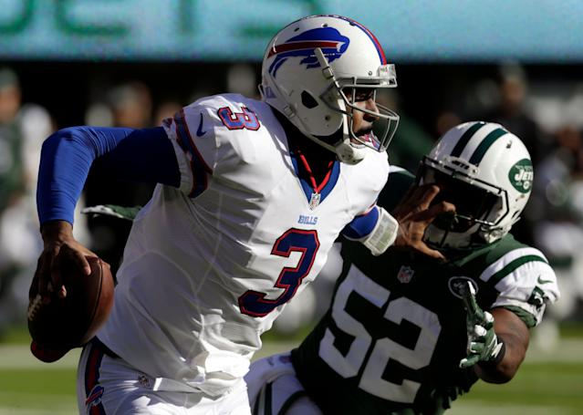 Former Bills quarterback EJ Manuel is retiring. (AP Photo/Seth Wenig)