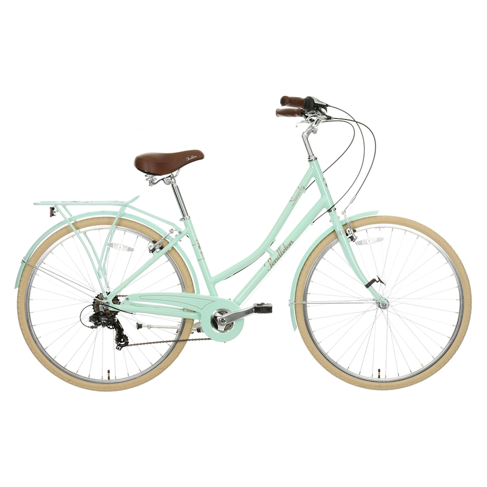 """<p><a class=""""body-btn-link"""" href=""""https://go.redirectingat.com?id=127X1599956&url=https%3A%2F%2Fwww.halfords.com%2Fbikes%2Fhybrid-bikes%2Fpendleton-somerby-hybrid-bike-mint---17in-19in-frames-507514.html&sref=https%3A%2F%2Fwww.womenshealthmag.com%2Fuk%2Fgym-wear%2Fg32740535%2Fbest-bikes%2F"""" target=""""_blank"""">CHECK STOCK</a></p><p>Price: £280.00</p><p>Unless your local Halfords shop has this bike in stock, you'll have to wait to buy – more stock of this beautiful bike is expected in June. If you're looking for a classic-looking hybrid bike at an affordable price, then this is the one to go for: the stylish mint step-through frame looks like it belongs in a film. Coupled with the fact that it's under £300, what's not to like? </p><p><strong>Number of gears: </strong>7 </p><p><strong>Frame: </strong>Alloy step-through frame</p><p><strong>Back in stock: </strong>June <strong></strong></p>"""