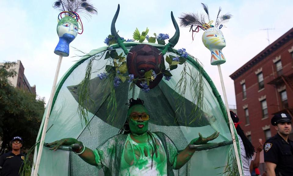 'The artistic people that makes these costumes are able to display their talents,' said one reveler.
