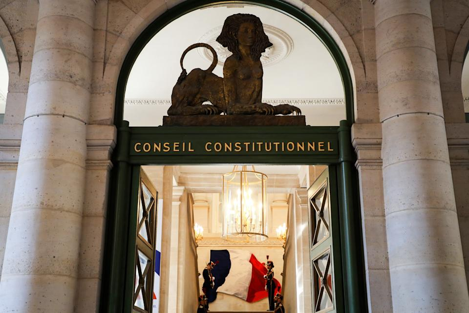 L'entrée du Conseil constitutionnel photographiée en juillet 2020. (Photo: LUDOVIC MARIN via Getty Images)