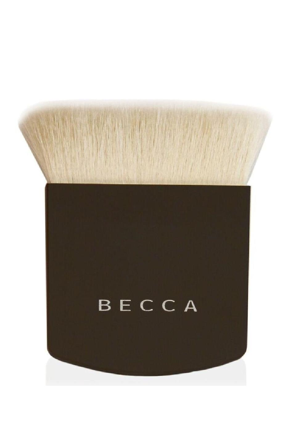 """<p><strong>BECCA</strong></p><p>amazon.com</p><p><strong>$29.05</strong></p><p><a href=""""https://www.amazon.com/dp/B00F4YBNUS?tag=syn-yahoo-20&ascsubtag=%5Bartid%7C10049.g.34552138%5Bsrc%7Cyahoo-us"""" rel=""""nofollow noopener"""" target=""""_blank"""" data-ylk=""""slk:Shop Now"""" class=""""link rapid-noclick-resp"""">Shop Now</a></p><p>I know we just went over flat kabuki brushes, but this one is flat in more than one way. These dense <strong>bristles are sandwiched to create a slim shape that's especially nice for sculpting</strong> the <a href=""""https://www.cosmopolitan.com/style-beauty/beauty/how-to/a43730/face-shape-contour-map/"""" rel=""""nofollow noopener"""" target=""""_blank"""" data-ylk=""""slk:contours of your face"""" class=""""link rapid-noclick-resp"""">contours of your face</a>. Bonus: The edges and corners of this precision brush can also be used to apply <a href=""""https://www.cosmopolitan.com/style-beauty/beauty/g8655202/best-highlighter-makeup-for-face/"""" rel=""""nofollow noopener"""" target=""""_blank"""" data-ylk=""""slk:highlighter"""" class=""""link rapid-noclick-resp"""">highlighter</a>. </p>"""