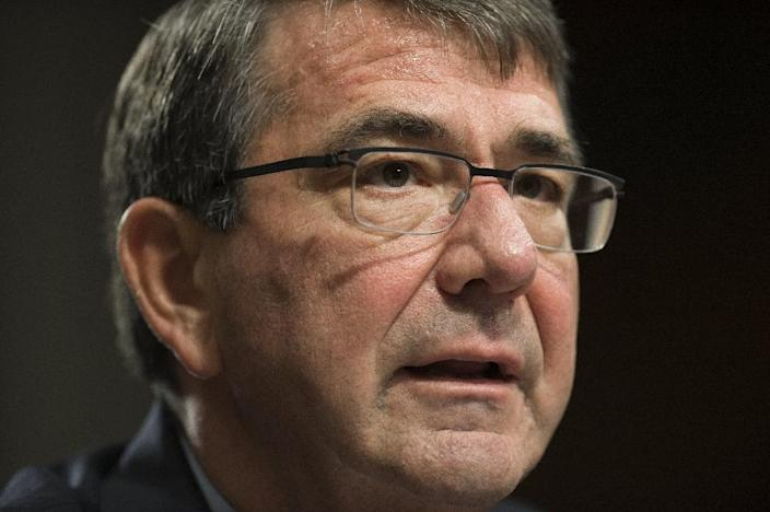 US Secretary of Defense Ashton Carter testifies during a Senate Armed Services Committee hearing about the Middle East on Capitol Hill in Washington, DC October 27, 2015. (AFP Photo/Saul Loeb)