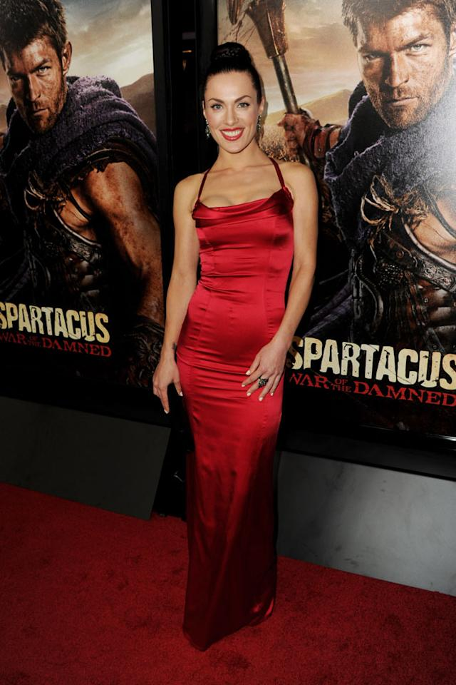 "Luna Rioumina attends the premiere of Starz's ""Spartacus: War of the Damned"" at Regal Cinemas L.A. Live on January 22, 2013 in Los Angeles, California."