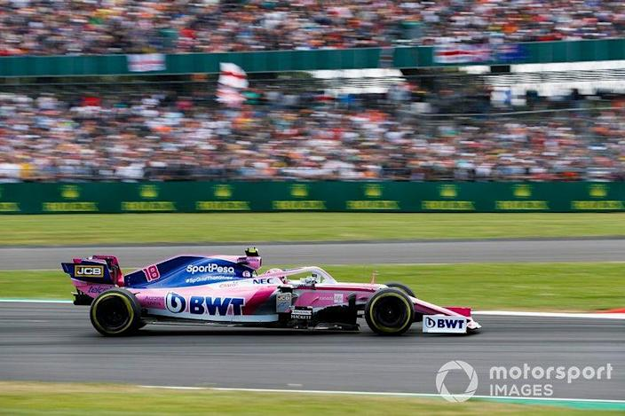 """Lance Stroll, Racing Point RP19 <span class=""""copyright"""">Zak Mauger / LAT Images</span>"""