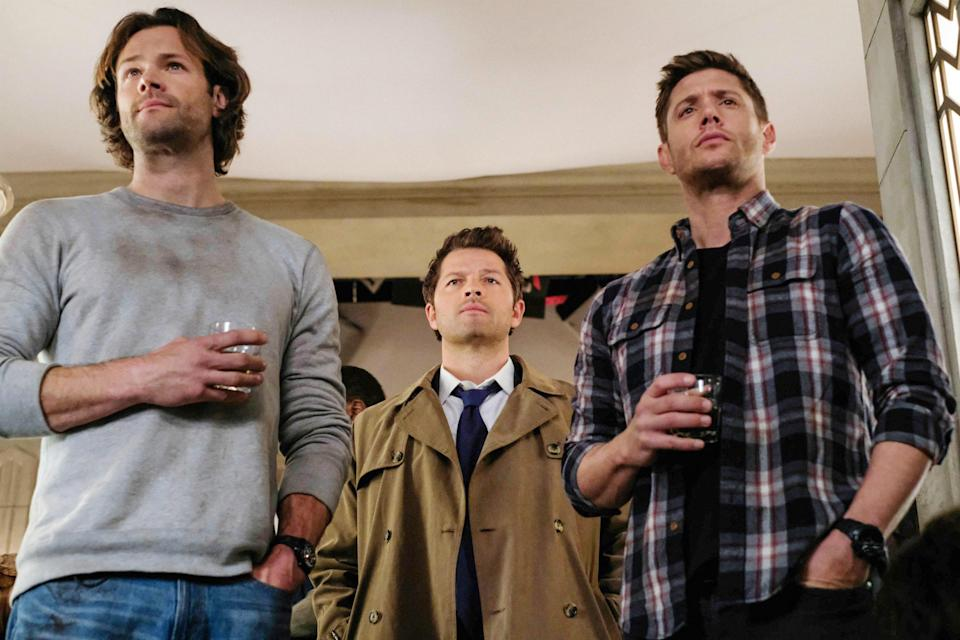 """<p>What can be said about <a href=""""https://www.glamour.com/story/jensen-ackles-supernatural-finale?mbid=synd_yahoo_rss"""" rel=""""nofollow noopener"""" target=""""_blank"""" data-ylk=""""slk:Supernatural"""" class=""""link rapid-noclick-resp""""><em>Supernatural</em></a> that hasn't already been said in the past 15 years. That's right, <em>Supernatural</em> had a run only matched by the likes of <em>Grey's Anatomy</em>, so if you're looking for a serious binge, you can watch all 15 seasons of two brothers and an angel battle good, evil, and the devil himself on Netflix right now. </p> <p><a href=""""https://cna.st/affiliate-link/2Z6F81fjBAMUbaw55t2E8q41eU5eDQYHEH5vMP7s8X5gXGxyxd3zMWPNSLVfSbD6S5rxYoM8tHFrPXwNpDMEhJdDUZgg?cid=60b4fe98c3055357c74b275e"""" rel=""""nofollow noopener"""" target=""""_blank"""" data-ylk=""""slk:Available to stream on Netflix"""" class=""""link rapid-noclick-resp""""><em>Available to stream on Netflix</em></a></p>"""