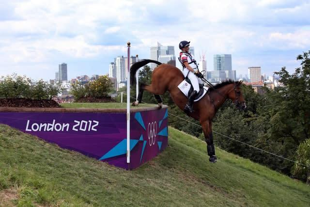 Great Britain's Mary King rides Imperial Cavalier on the cross country course in Greenwich Park at the London 2012 Olympics. King, alongside Nicola Wilson, Zara Phillips, Kristina Cook and William Fox-Pitt, won silver in the team eventing (David Davies/PA)