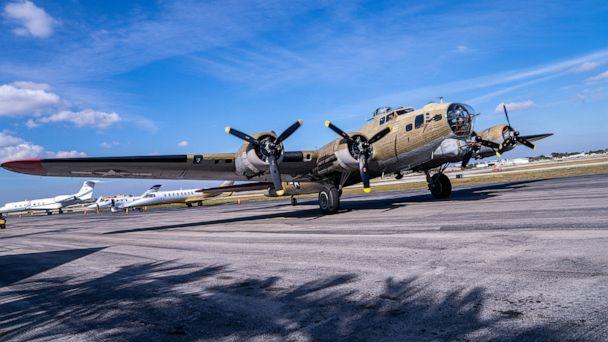 PHOTO: A B-17 bomber aircraft from World War II arrives at Fort Lauderdale Executive Airport in Fla., Jan. 18, 2019. (Tribune News Service via Getty Images, FILE)