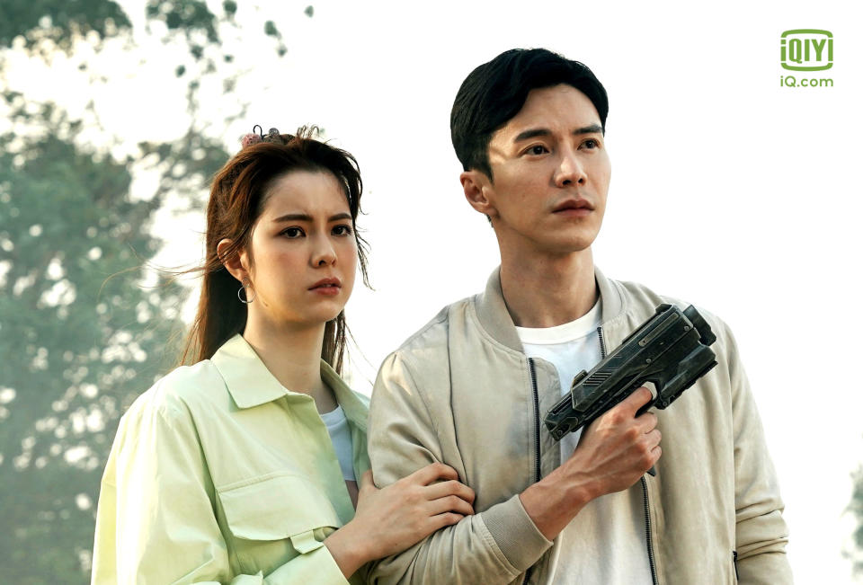 The Ferryman: Legends Of Nanyang stars Lawrence Wong as a convenience store worker Xia Dong Qing, and Kate Kinney as his friend Olivia. (Photo: iQiyi)