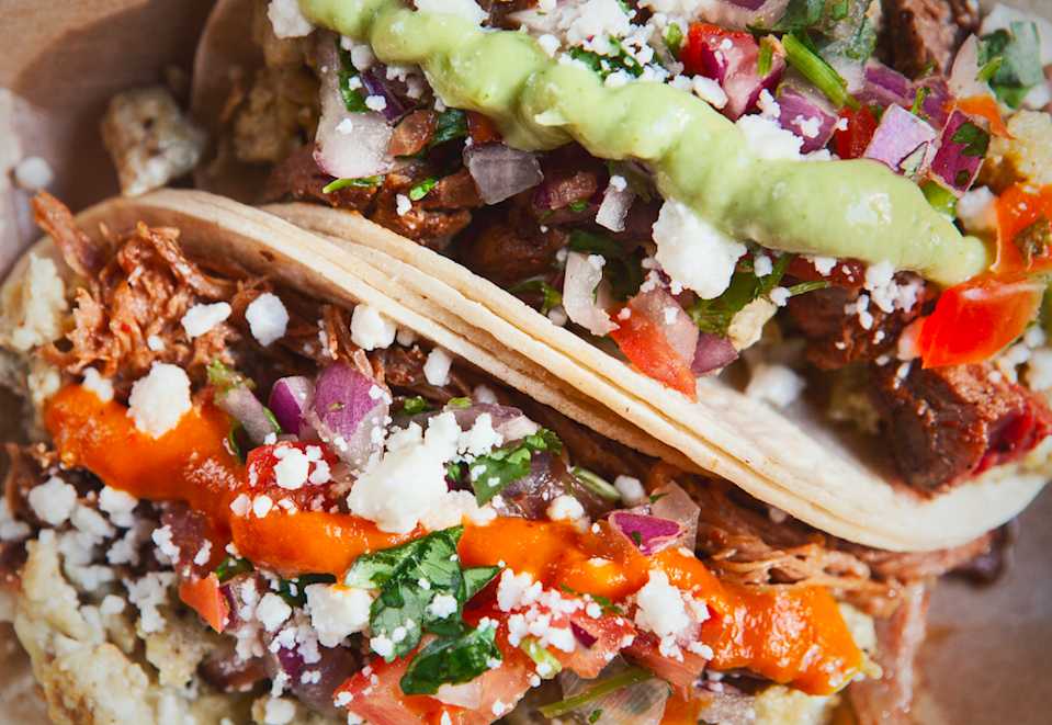 """<div><p>""""I would say street tacos or Mission-style burritos."""" </p><p>—<a href=""""https://www.reddit.com/user/justicecactus/"""" rel=""""nofollow noopener"""" target=""""_blank"""" data-ylk=""""slk:u/justicecactus"""" class=""""link rapid-noclick-resp"""">u/justicecactus</a></p><p><b>Runner-ups:</b> """"Definitely burritos and French dip sandwiches if you're in Los Angeles or San Diego.""""</p><p>—<a href=""""https://www.reddit.com/user/tlh9979/"""" rel=""""nofollow noopener"""" target=""""_blank"""" data-ylk=""""slk:u/tlh9979"""" class=""""link rapid-noclick-resp"""">u/tlh9979</a></p></div><span> Getty Images</span>"""