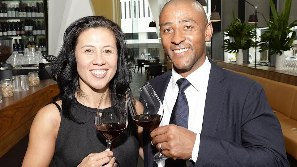 George Gregan and wife Erica, pictured here at GG Espresso in 2014.