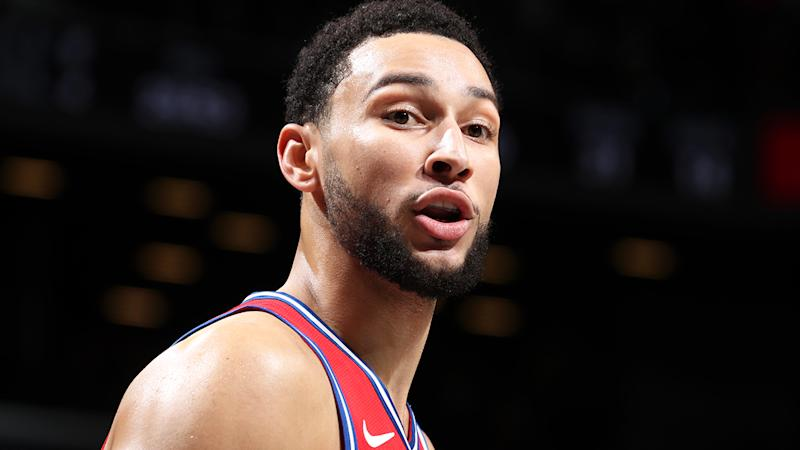 Ben Simmons and the 76ers lost to old playoff foes Brooklyn on Monday, with Nets fans giving the Aussie point guard plenty of stick along the way. (Photo by Nathaniel S. Butler/NBAE via Getty Images)