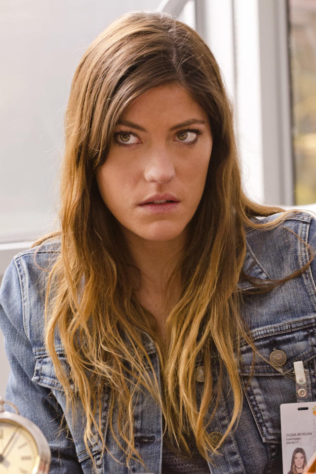 "Jennifer Carpenter as Debra Morgan in the ""Dexter"" Season 8 episode, ""What's Eating Dexter Morgan?"""