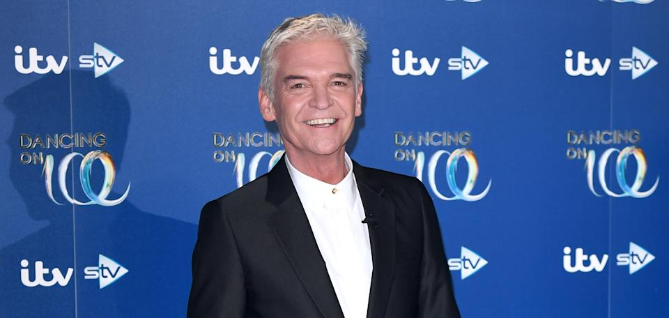 Phillip Schofield's weight loss became noticeable in the months before he came out. (Getty Images)