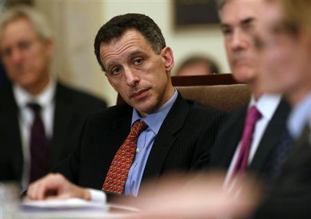 Federal Reserve Board of Governors member Jeremy Stein listens during an open board meeting at the Federal Reserve in Washington
