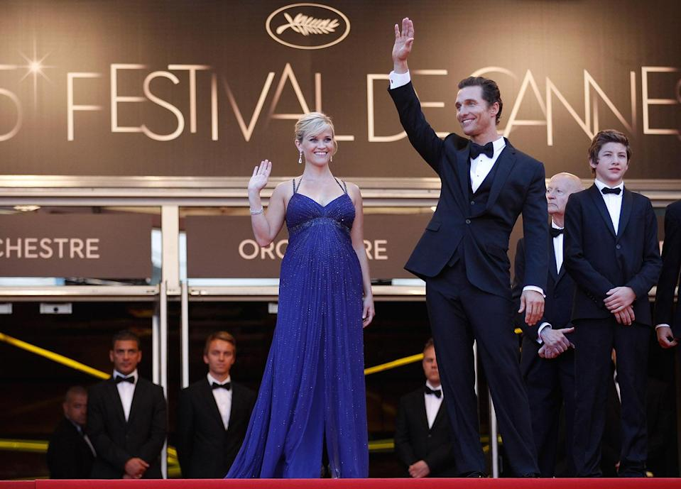 "<p>Pregnant with her third child, Reese (a Tennesse native) appeared alongside fellow southerner Matthew McConaughey on the red carpet at the Cannes premiere. She praised the film for its accurate portrayal of the American South, telling <span>Backstage.com</span> ""I grew up with my brother in a creek on a dirt bike riding around, doing motocross, down in the dirt, fishing in Tennessee. So, when I read [writer-director] Jeff [Nichols]'s script, it just felt like home.""<br> (Photo: Getty Images) </p>"