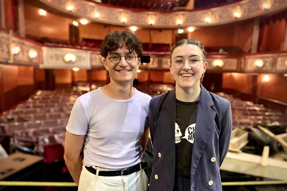 <p>Toby Marlow and Lucy Moss at the Lyric Theatre</p>Handout