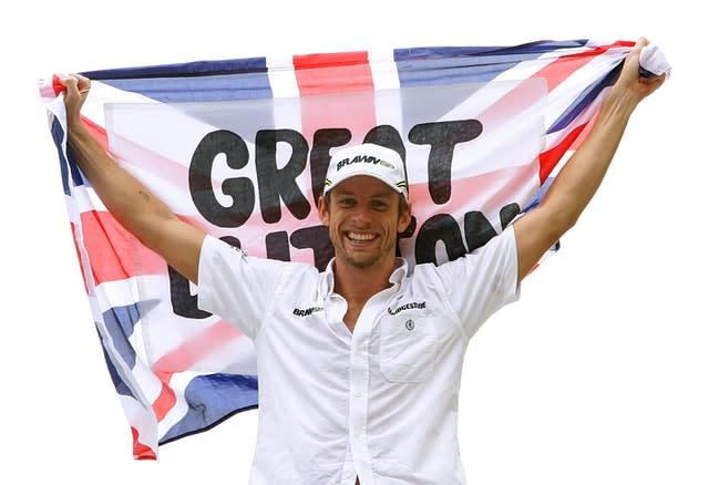 Jenson Button went on to win the title in 2009 (Martin Rickett/PA)
