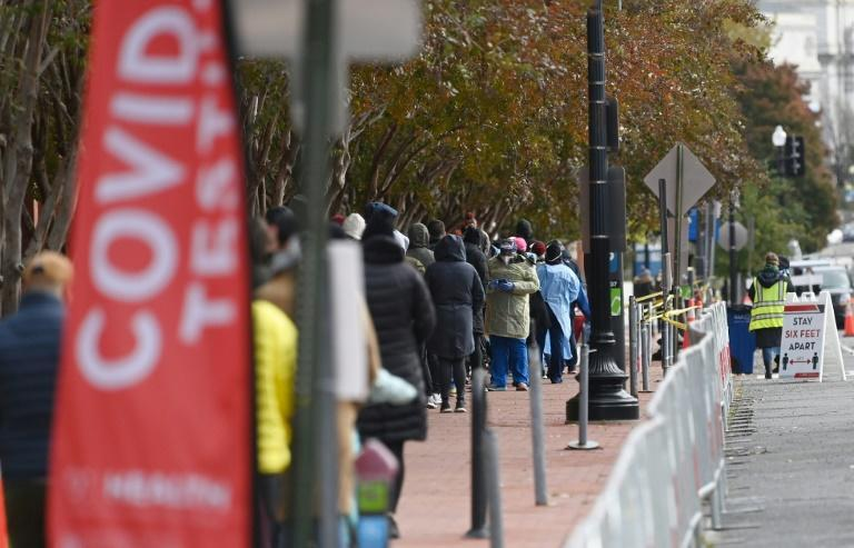 Many Americans are queuing to get coronavirus tests before traveling home for Thanksgiving