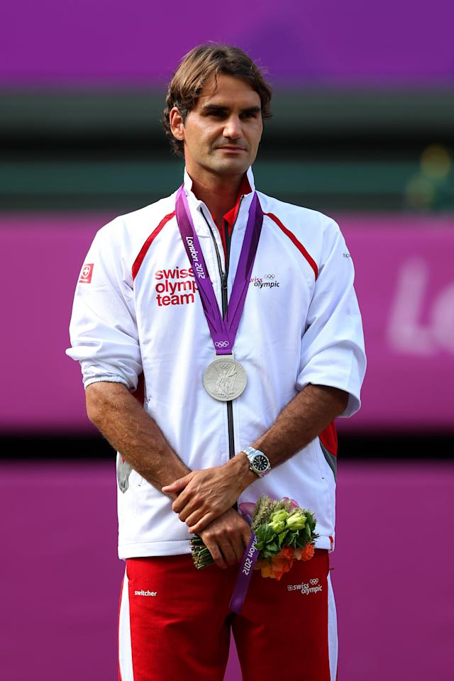 <p>Federer is probably he greatest tennis player of all time and certainly the greatest of his generation. However while the Swiss legend took gold alongside Stan Wawrinka in the doubles tournament in Beijing in 2008, the best he ever did as an individual was a silver medal at the London 2012 Games. </p>