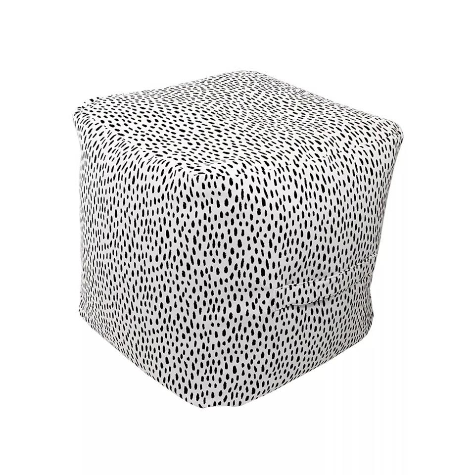 <p>The <span>Pouf Beige With Black Dots</span> ($60) is so stylish. </p>