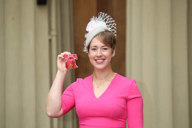 After winning gold again in 2018, Yarnold was awarded an OBE