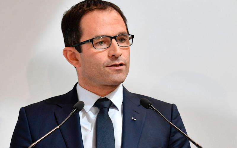 French presidential election candidate for the left-wing French Socialist (PS) party Benoit Hamon - Credit: PHILIPPE LOPEZ/AFP