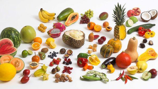 PHOTO: Fruits, vegetables and nuts are pictured in an undated stock photo. (STOCK PHOTO/Getty Images)
