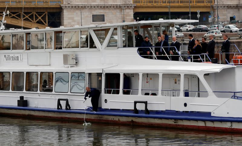 1st anniversary of the Mermaid boat accident in Budapest