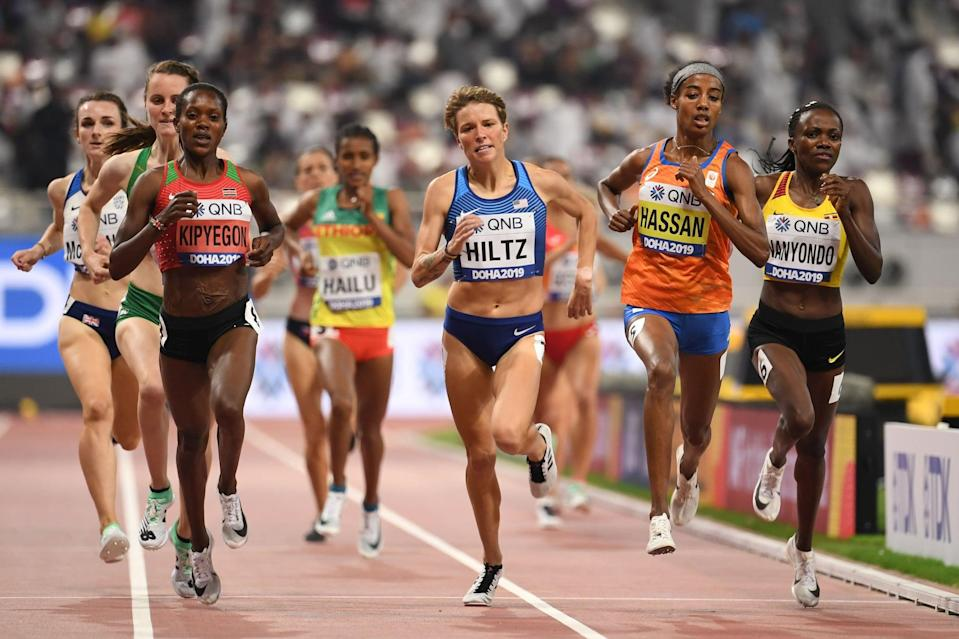 """<p>Professional runner Nikki Hiltz competed at the 2019 world championships and has a good chance of making the US Olympic team in 2021, a career trajectory she says was made possible when she <a href=""""https://www.womensrunning.com/culture/nikki-hiltz-talks-breakthroughs-on-and-off-track/"""" class=""""link rapid-noclick-resp"""" rel=""""nofollow noopener"""" target=""""_blank"""" data-ylk=""""slk:opened up about her sexuality"""">opened up about her sexuality</a>. """"When I decided to be who I am, a weight was lifted. I don't think my breakthrough season was coincidental,"""" she told <strong>Women's Running</strong>, referring to her senior season at the University of Arkansas, when she placed second in the 1500 meters at the NCAA outdoor championships. """"I was holding back this part of me, hiding it and burying it. When you're happy and holistic off the track, it's going to translate on the track. That was that.""""</p> <p>She's since made her platform an authentic and positive one, though she's not afraid to tell off trolls in the comment section. """"I responded to a lot of them with funny comments because it made me feel better, but also to educate,"""" Hiltz said. """"Part of me didn't want to give these people an ounce of my energy, but it also open floodgates for positive messages.""""</p>"""
